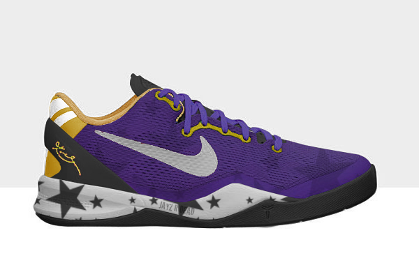 NIKE ZOOM KOBE 8 magic lakers